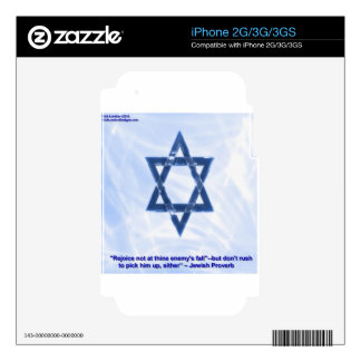 Star Of David & Funny Jewish Proverb Gifts & Cards iPhone 3GS Decals