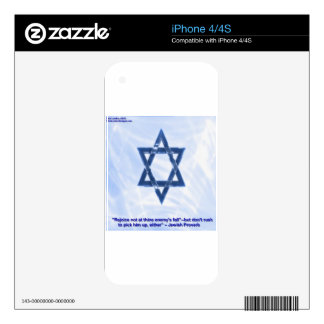 Star Of David & Funny Jewish Proverb Gifts & Cards Skin For iPhone 4S