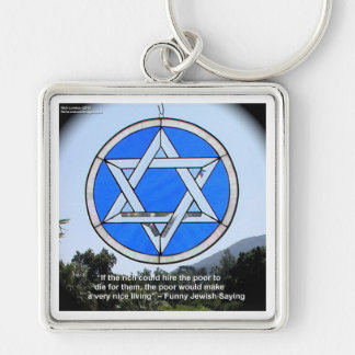 Star Of David & Funny Jewish Quote Gifts & Cards Keychain