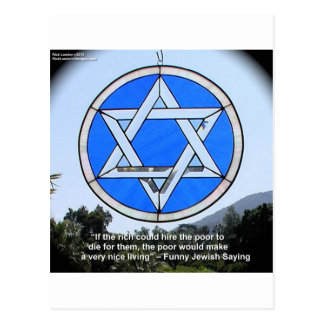 Star Of David & Funny Jewish Quote Gifts & Cards Postcard