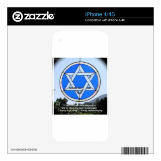 Star Of David & Funny Jewish Quote Gifts & Cards Skin For The iPhone 4S