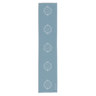 Star of David - geometric with lotus and frame Short Table Runner