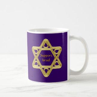 Star of David Gold Classic White Coffee Mug