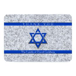 Star of David Granite Sympathy Thank You card