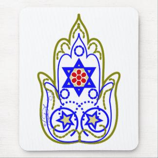 Star Of David Hamsa Hand Of Miriam Mouse Pad