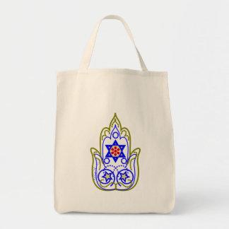 Star Of David Hamsa Hand Of Miriam Tote Bag