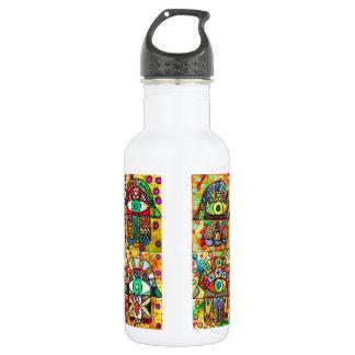 Star Of David Hamsa Vintage Tapastry Stainless Steel Water Bottle