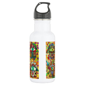Star Of David Hamsa Vintage Tapastry Water Bottle