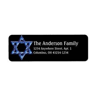 Star of David Hanukkah Address Labels d6