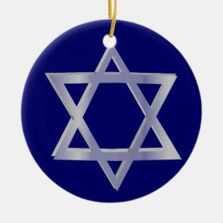 Star of David Hanukkah Blue Ornament