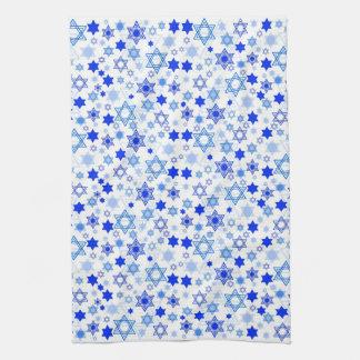 Star of David Hanukkah Kitchen Towel