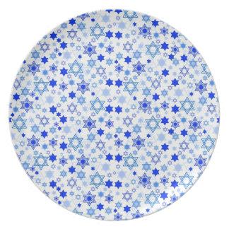 Star of David Hanukkah Melamine Plate