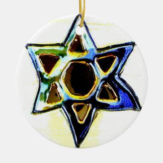 STAR OF DAVID HANUKKAH ORNAMENT