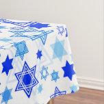 Star of David Hanukkah Pattern Tablecloth