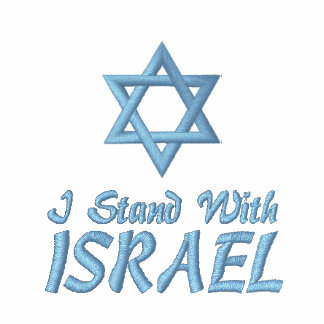 Star of David I Stand With Israel Embroidered Shirt