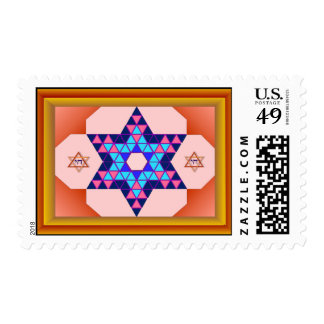 Star of David in a Frame Postage Stamp