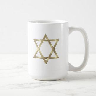 Star of David in shiny gold Coffee Mug