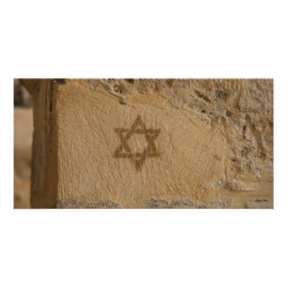 Star of David in the Old City Jerusalem Photo Card Template