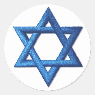 Star of David Jewish Israeli Symbol Classic Round Sticker