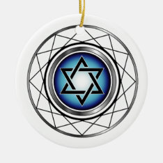 Star Of David- Jewish Religious Symbol Ceramic Ornament at Zazzle