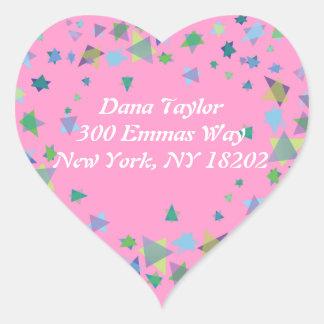 Star of David Jewish RETURN ADDRESS Sticker Label