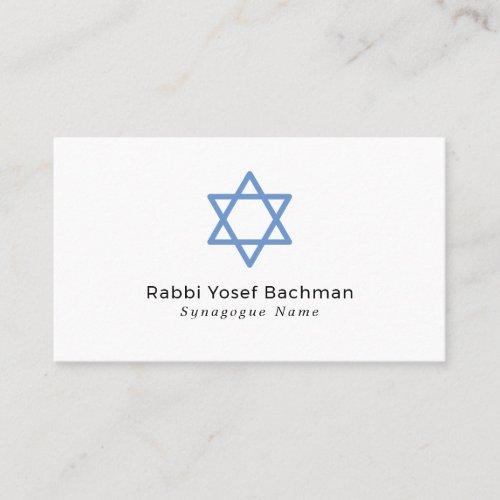 Star Of David, Judaism, Religious Business Card