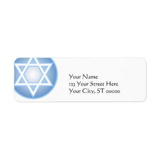Star of David Return Address Labels