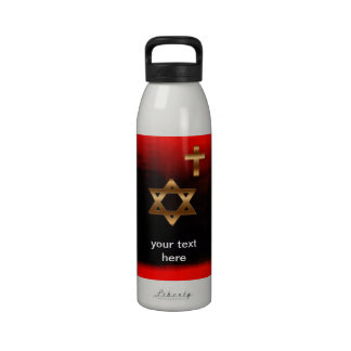 Star of David Liberty Water Bottle Reusable Water Bottle