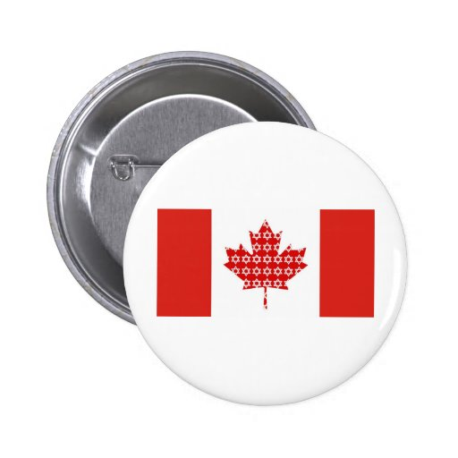 Star of David Maple Leaf Canadian Flag Ts, Gifts Pinback Buttons