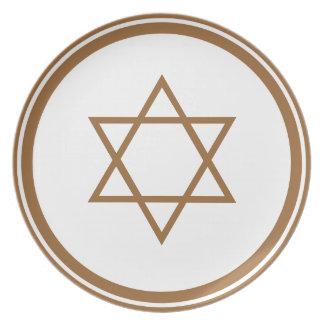 Star of David Melamine Plate