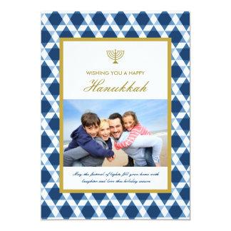 "Star Of David Menorah Hanukkah Photo Greetings 5"" X 7"" Invitation Card"