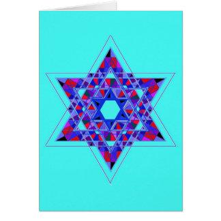 Star of David mosaic Card