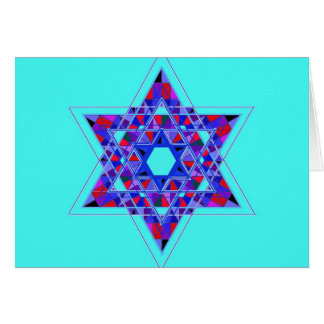 Star of David mosaic Cards