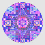 Star of David mosaic Classic Round Sticker