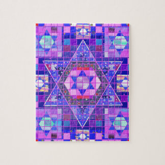 Star of David mosaic Jigsaw Puzzle