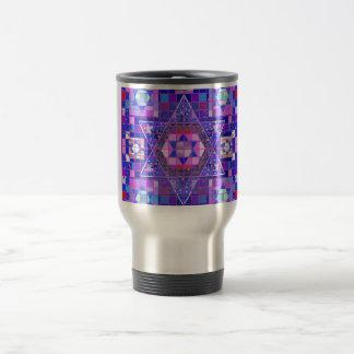 Star of David mosaic 15 Oz Stainless Steel Travel Mug