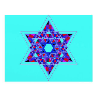Star of David mosaic Post Card