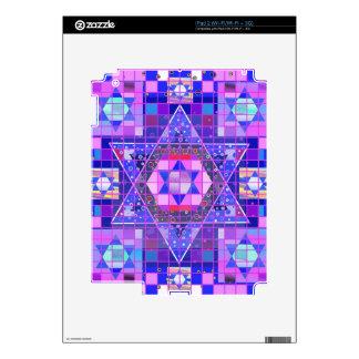 Star of David mosaic Decals For iPad 2