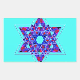 Star of David mosaic Rectangular Sticker