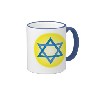 Star of David Ringer Coffee Mug