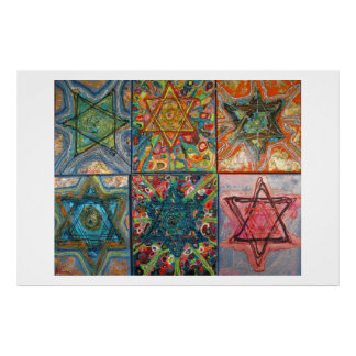 Star of David Multiples Poster