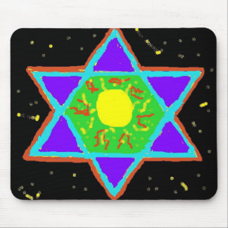 Star of David Paint Mouse Pad