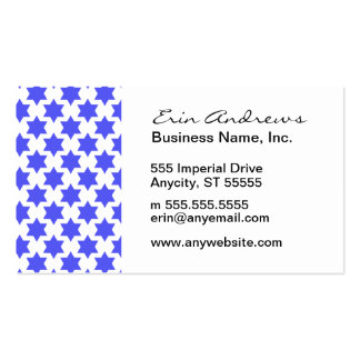 Star of David pattern Business Card Template