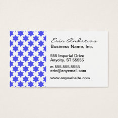 Star Of David Pattern Business Card at Zazzle