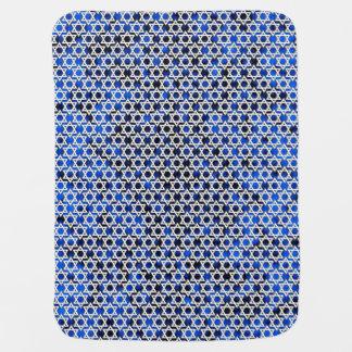 Star of David Pattern Receiving Blanket