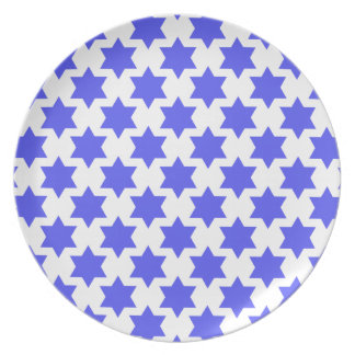 Star of David patterned plate