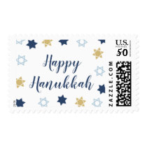 Star of David Pattrn Cute Hanukkah Postage