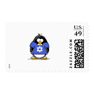 Star of David Penguin Postage Stamps