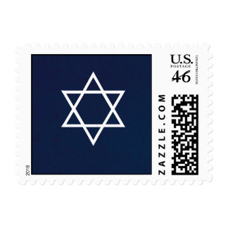 Star Of David Postage Stamp