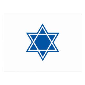 STAR OF DAVID POSTCARD